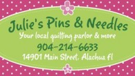 JULIE'S PINS & NEEDLES Your Local Quilt­ing Par­lor and More!   For Classes & Events: www.juliespinsandneedles.com   Well, Julie's Pins and Nee­dles Quilt­ing Par­lor is proud to be open and serv­ing quil­ters in and around Gainesville, […]